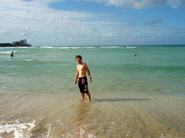 ハワイ ワイキキビーチとsanasuke
