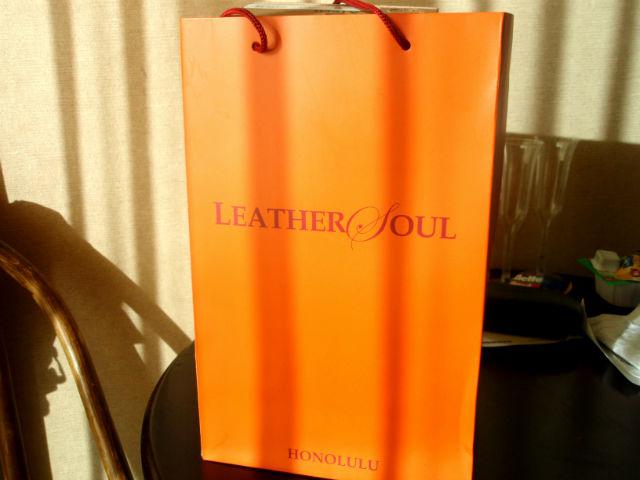 ハワイ LeatherSoulのショッピングバック