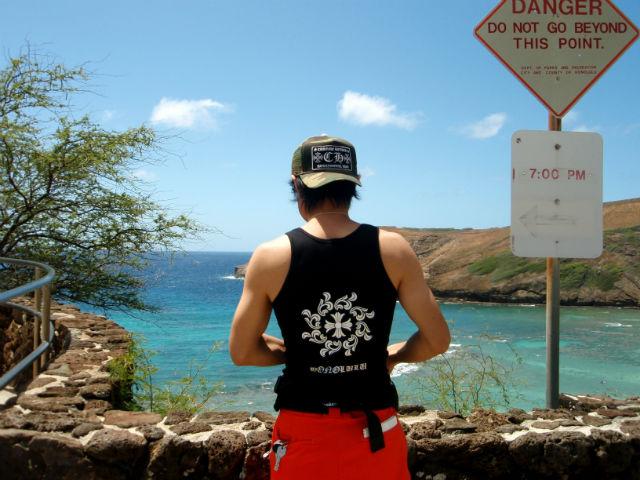 ハワイ ハナウマ湾のsanasuke