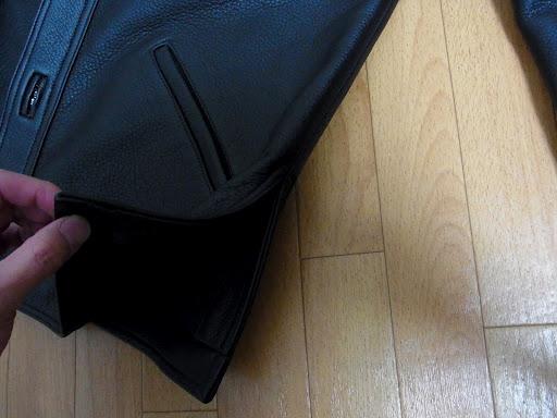 クロムハーツ ハンティングジャケットのスリット