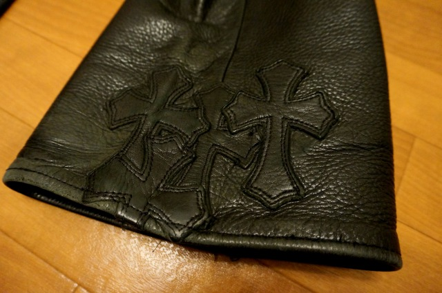 CHROME HEARTS LEATHERPANTSの裾