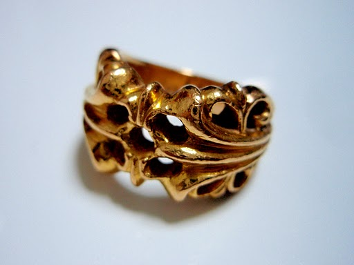 CHROME HEARTS RING K&T 22k gold