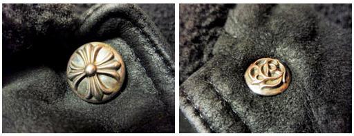 クロムハーツのボタン