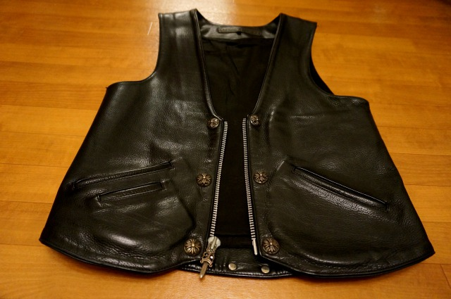 CHROME HEARTS VEST MEN'S 6B/Z-BACK DE LYS