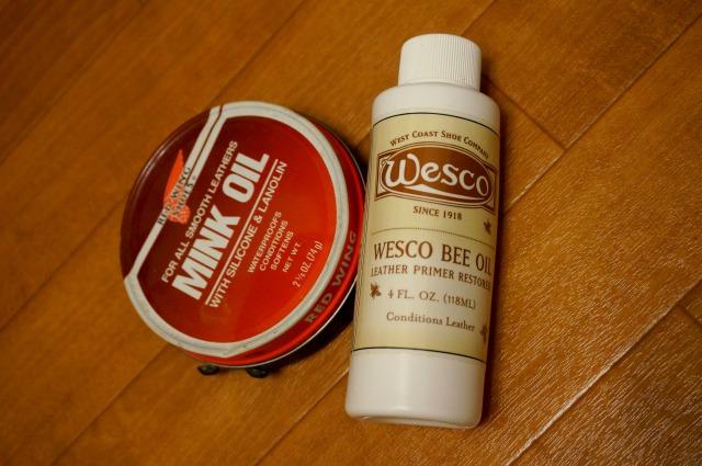 RED WING ミンクオイルとWESCO BeeOil