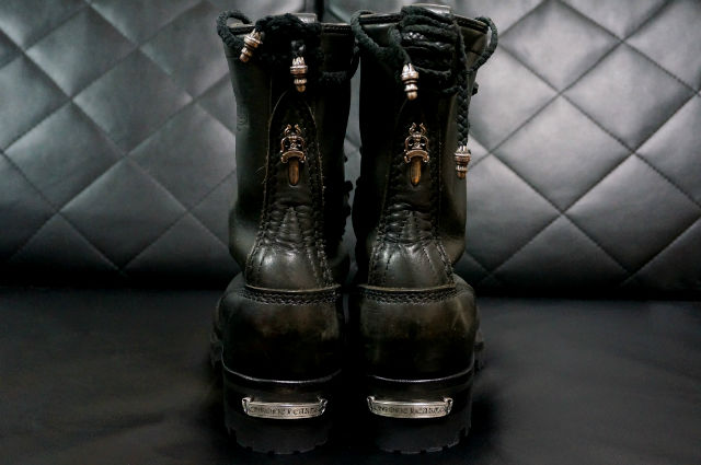 CHROME HEARTS FIREMAN BOOTS back style