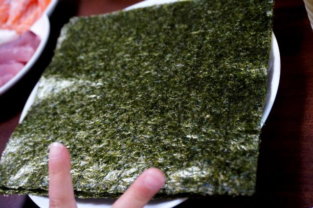 手巻き寿司の海苔