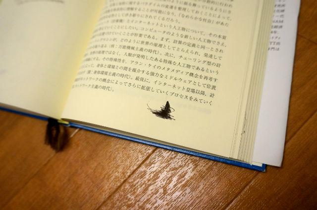 本に落書き