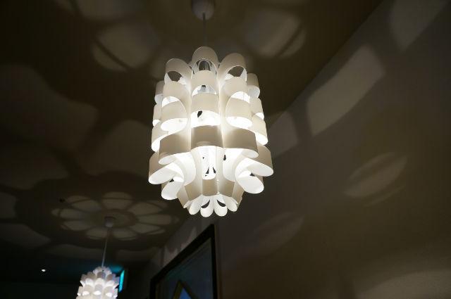 インド料理屋さんの照明