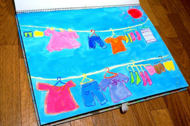 娘の絵 クロムハーツの洗濯物