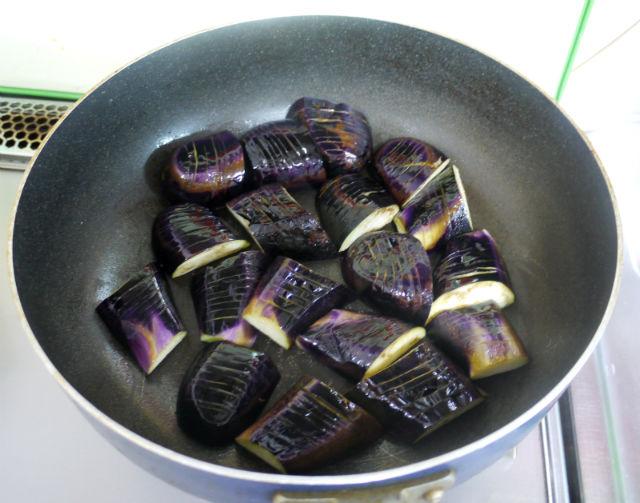 茄子と炒めたもの