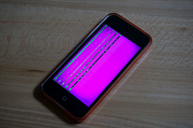 iphone5cの画面不良