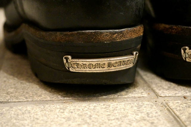 CHROME HEARTS × WESCO THE BOSS ヒールlの摩耗