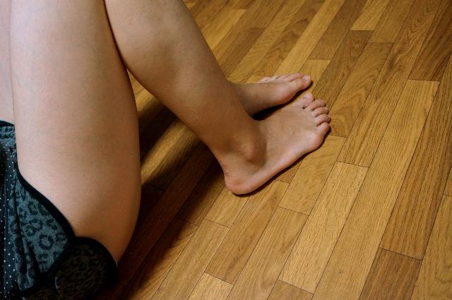ランニングで鍛えた妻の脚