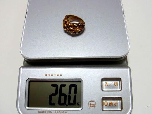 CHROME HEARTS GOLD KT RING 22k