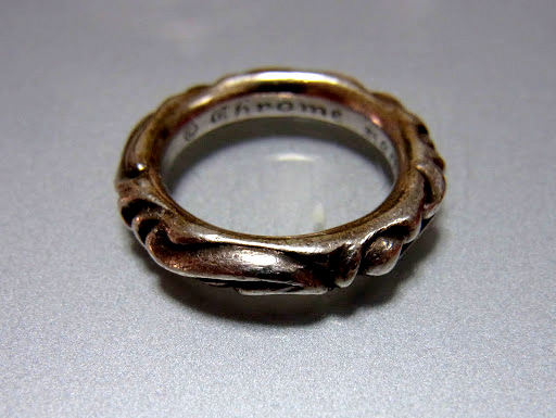 CHROME HEARTS SCROLL BAND RING