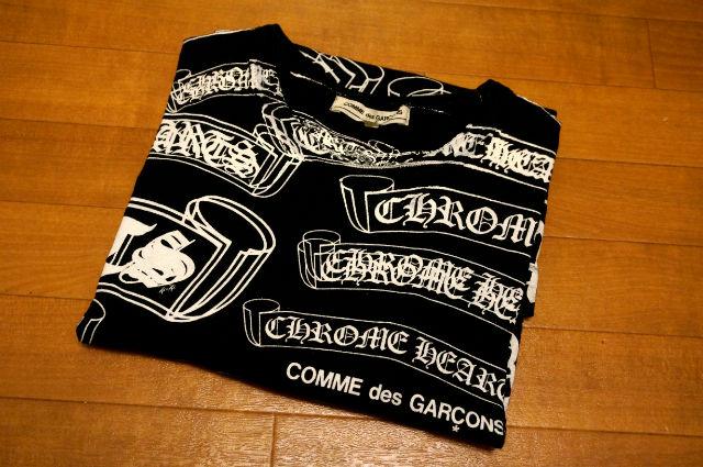 CHROME HEARTSとCOMME des GARCONSのTシャツ